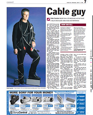 The Herald Sun, Australia's top selling newspaper, interviews Caelin Gabriel