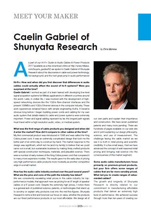 Hi-Fi+ Issue 153 - Interview: Caelin Gabriel of Shunyata Research