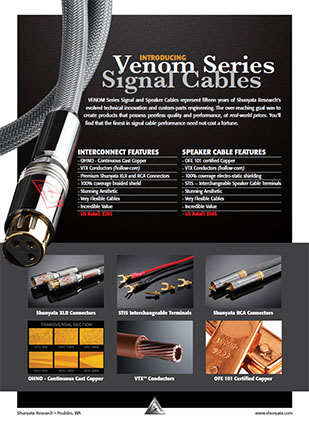 Introducing Venom Series Signal Cables