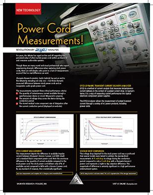 Power Cord Measurements! Revolutionary DTCD® Analysis