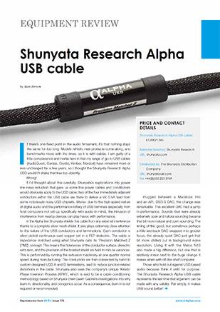 Shunyata Research Alpha USB Cable