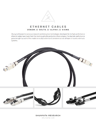 Ethernet Cables – VENOM, DELTA, ALPHA & SIGMA