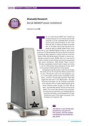 Hi-Fi+ Editor's Choice Awards 2020 - Denali 6000/T UK