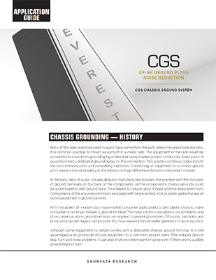Chassis Ground System (CGS) Application Guide
